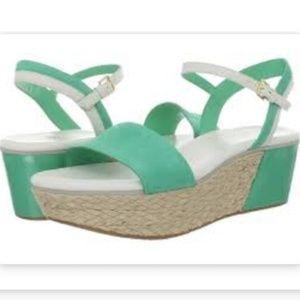 Brand New Cole Haan Wedge Sandals Nubuck Arden
